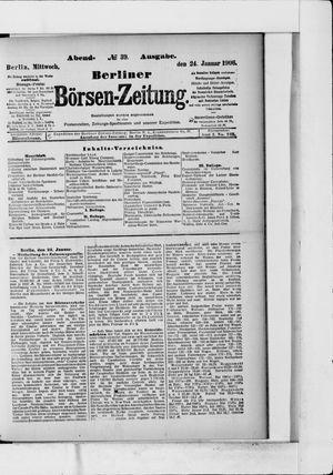 Berliner Börsen-Zeitung vom 24.01.1906