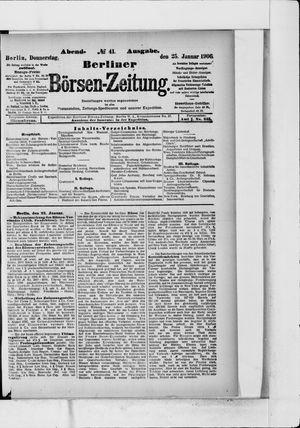 Berliner Börsen-Zeitung vom 25.01.1906