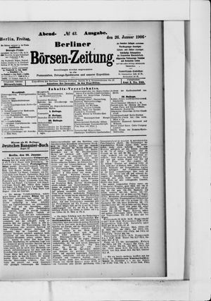 Berliner Börsen-Zeitung vom 26.01.1906