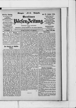 Berliner Börsen-Zeitung vom 28.01.1906