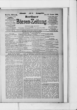 Berliner Börsen-Zeitung vom 31.01.1906
