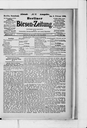 Berliner Börsen-Zeitung vom 03.02.1906