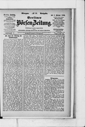 Berliner Börsen-Zeitung on Feb 4, 1906