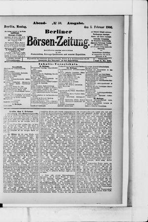 Berliner Börsen-Zeitung vom 05.02.1906