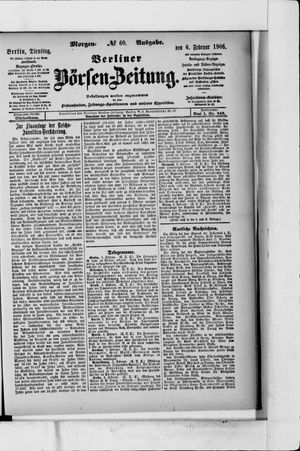 Berliner Börsen-Zeitung vom 06.02.1906