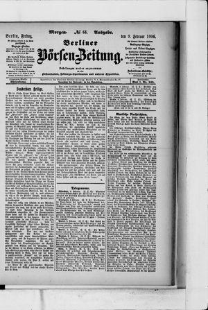 Berliner Börsen-Zeitung vom 09.02.1906