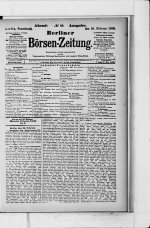 Berliner Börsen-Zeitung vom 10.02.1906