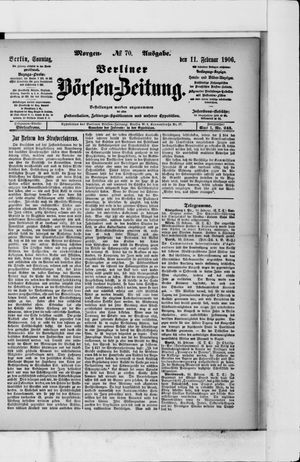Berliner Börsen-Zeitung vom 11.02.1906