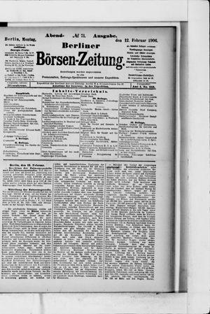Berliner Börsen-Zeitung vom 12.02.1906