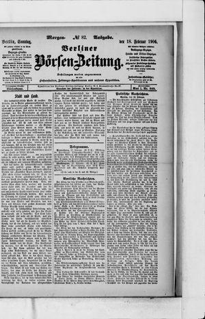 Berliner Börsen-Zeitung vom 18.02.1906