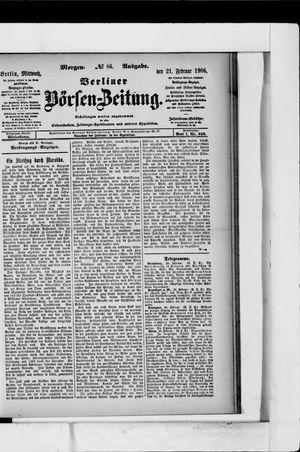 Berliner Börsen-Zeitung vom 21.02.1906