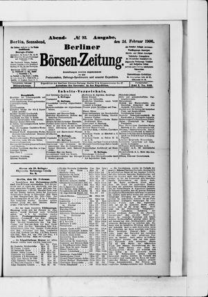 Berliner Börsen-Zeitung vom 24.02.1906