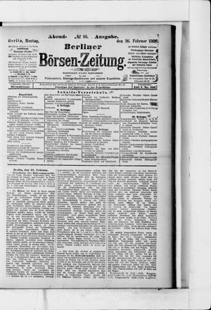 Berliner Börsen-Zeitung vom 26.02.1906