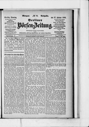 Berliner Börsen-Zeitung vom 27.02.1906