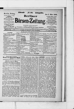Berliner Börsen-Zeitung vom 02.03.1906