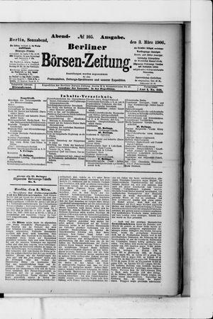 Berliner Börsen-Zeitung vom 03.03.1906
