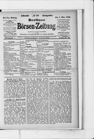 Berliner Börsen-Zeitung vom 05.03.1906