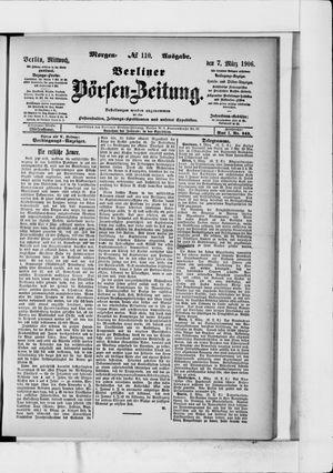 Berliner Börsen-Zeitung vom 07.03.1906