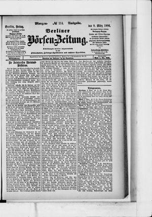 Berliner Börsen-Zeitung vom 09.03.1906