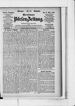 Berliner Börsen-Zeitung vom 10.03.1906