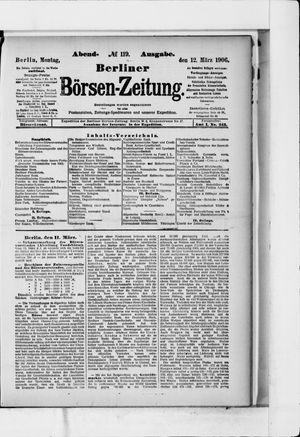 Berliner Börsen-Zeitung vom 12.03.1906