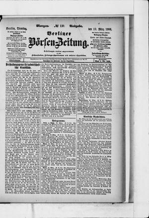 Berliner Börsen-Zeitung vom 13.03.1906