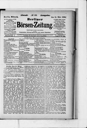 Berliner Börsen-Zeitung vom 14.03.1906