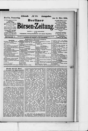 Berliner Börsen-Zeitung vom 15.03.1906