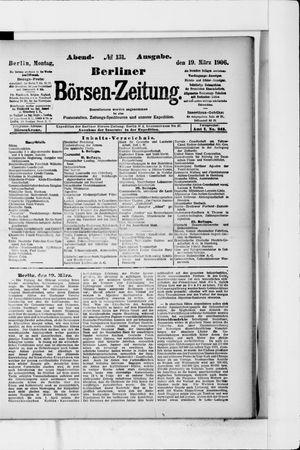 Berliner Börsen-Zeitung vom 19.03.1906