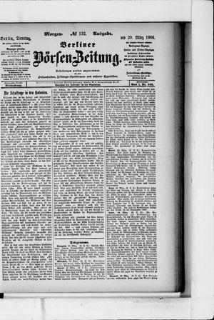 Berliner Börsen-Zeitung vom 20.03.1906