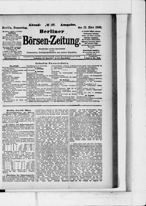Berliner Börsen-Zeitung vom 22.03.1906