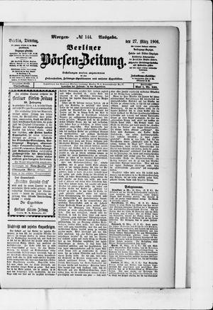 Berliner Börsen-Zeitung vom 27.03.1906