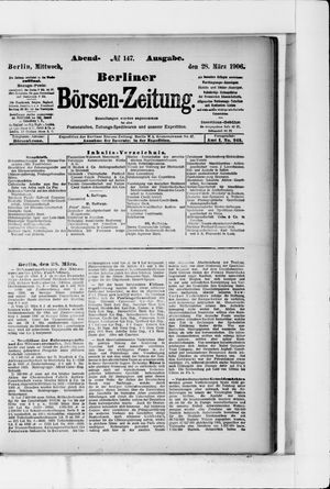 Berliner Börsen-Zeitung vom 28.03.1906