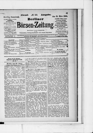 Berliner Börsen-Zeitung vom 31.03.1906