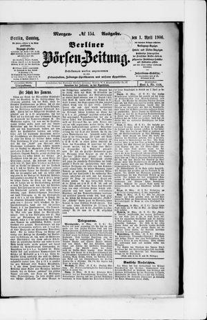 Berliner Börsen-Zeitung vom 01.04.1906