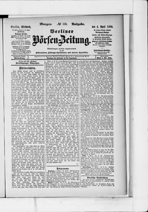 Berliner Börsen-Zeitung vom 04.04.1906