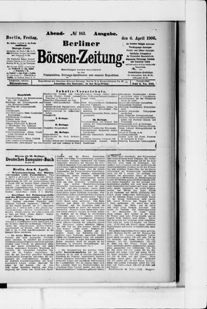 Berliner Börsen-Zeitung vom 06.04.1906