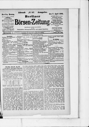 Berliner Börsen-Zeitung vom 09.04.1906