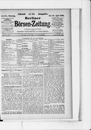 Berliner Börsen-Zeitung vom 10.04.1906