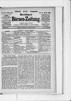 Berliner Börsen-Zeitung vom 11.04.1906