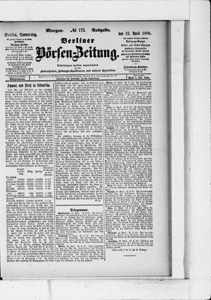 Berliner Börsen-Zeitung vom 12.04.1906