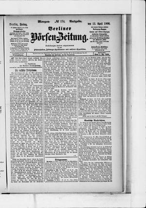 Berliner Börsen-Zeitung vom 13.04.1906