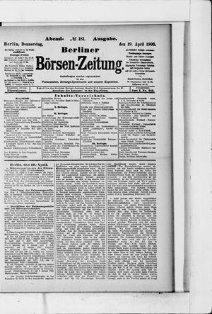Berliner Börsen-Zeitung vom 19.04.1906