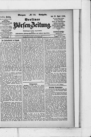 Berliner Börsen-Zeitung vom 20.04.1906