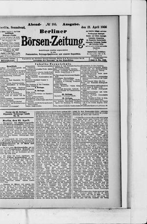 Berliner Börsen-Zeitung vom 21.04.1906