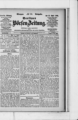 Berliner Börsen-Zeitung vom 25.04.1906