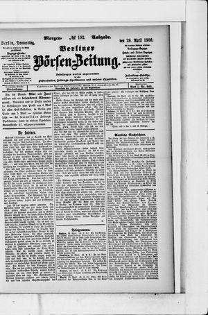 Berliner Börsen-Zeitung vom 26.04.1906