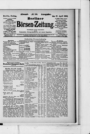 Berliner Börsen-Zeitung on Apr 27, 1906