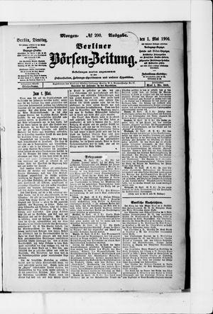 Berliner Börsen-Zeitung vom 01.05.1906