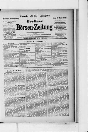 Berliner Börsen-Zeitung vom 03.05.1906